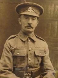 Sepia photo of William Milem in WWI uniform