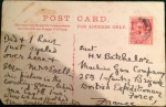 A postcard written by Meston to Henry