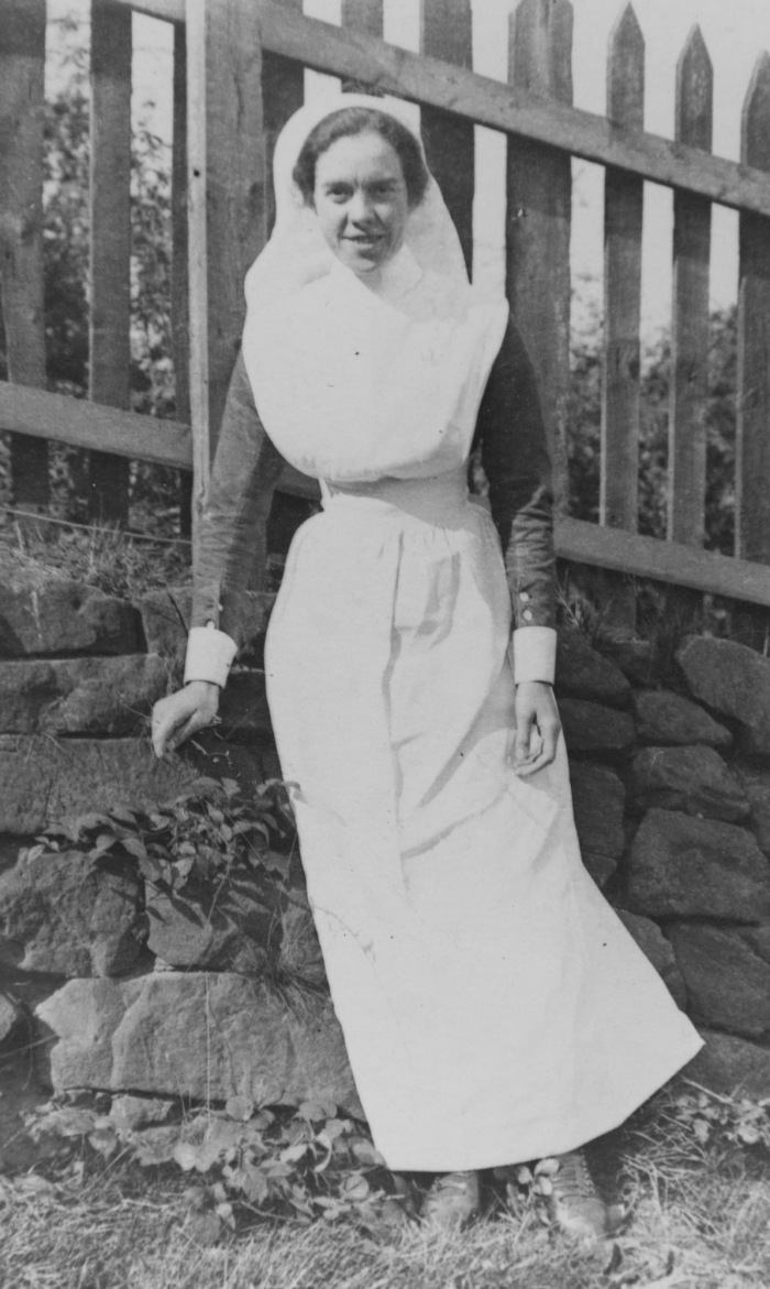 Letitia Moreton in nurses uniform